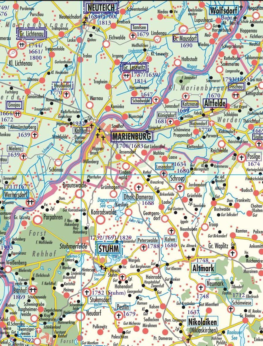 Genealogische Landkarte Fritz Schulz